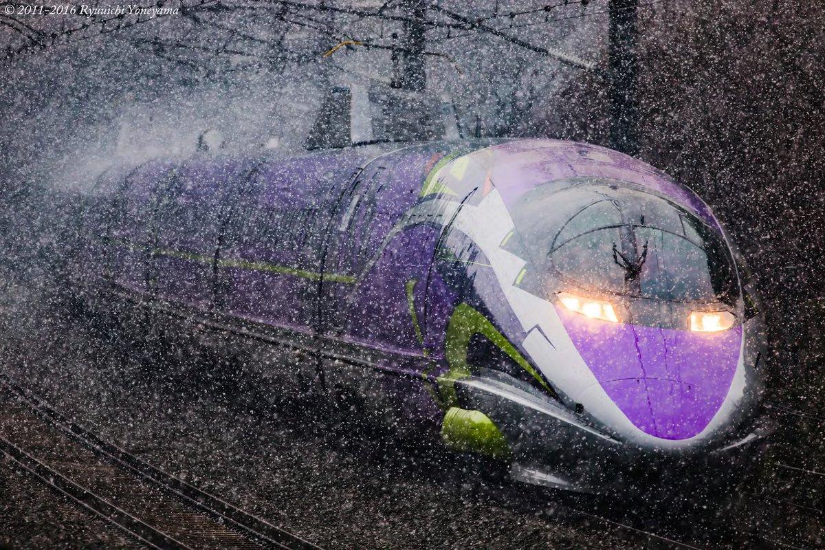 #お前よくぞそんなもん撮ってたな選手権 天気予報的に撮れるんじゃね?と青森→山口に行った結果の「500 TYPE EVA : 雪」 いやしかし、シン・エヴァンゲリオンは2021年中に公開されて欲しいもので