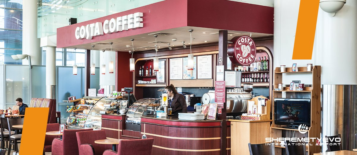 ☕️ But first...a cup of delicious winter-special hot drink at SVO's Costa Coffee    #CostaCoffee #SaturdayVibes #WeekendMood #CoffeeTime