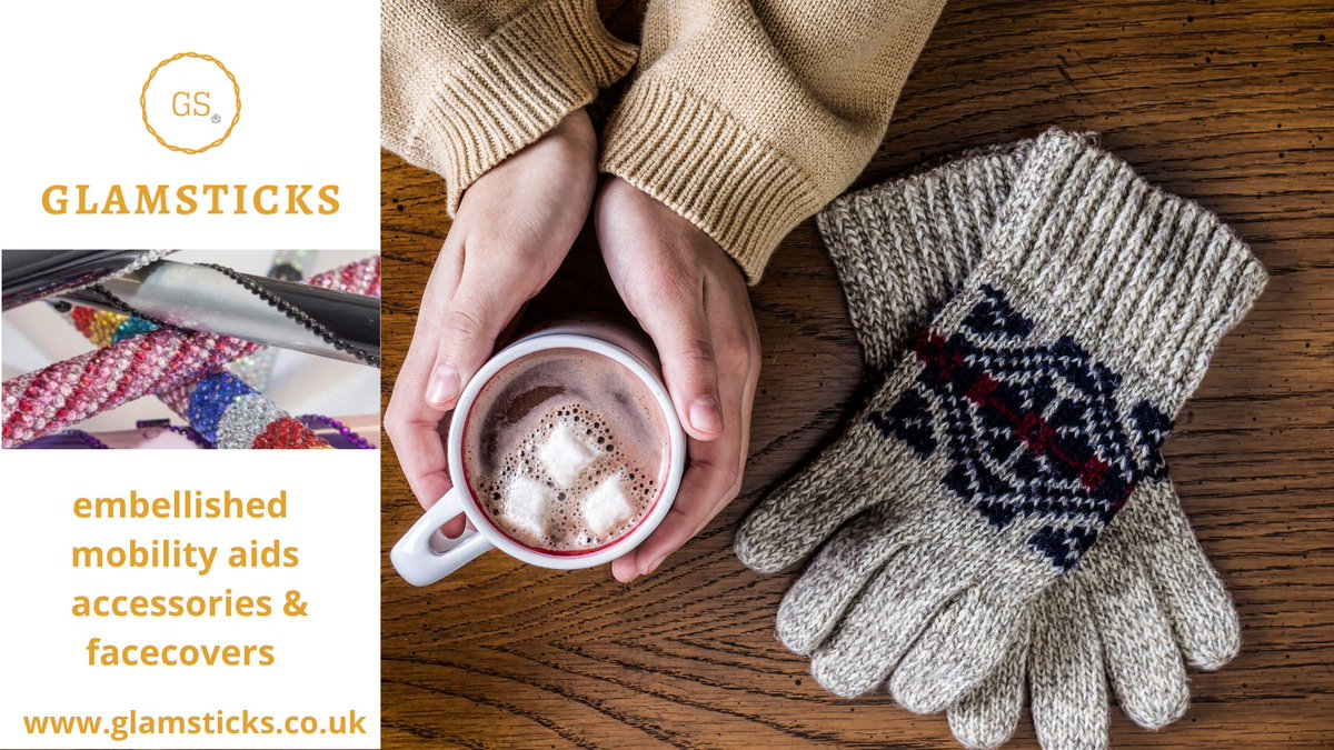 #SaturdayVibes  Happy #Saturday - and it is cold❄️wet 🌧️and also snowy ⛄️- depending where you are! I am staying put...#StaySafe  #mobilityaids #canes #crutches #walkingsticks #wheelchaircovers #disabled #swarovski  #Winterwatch