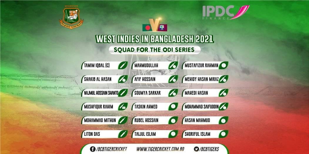 Replying to @BCBtigers: Bangladesh ODI Squad for the 3-match series against West Indies.  #BANvWI #RiseOfTheTigers