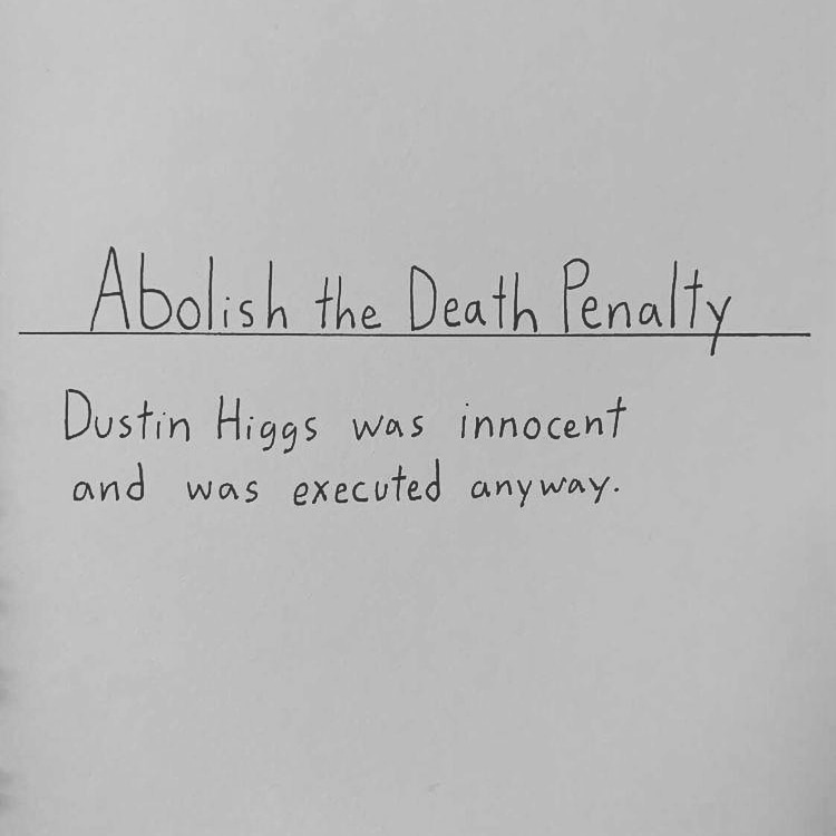 Dustin Higgs/Abolish the death penalty. My 493rd doodle. #doodle #scotus #dustinhiggs #savedustinhiggs #capitalpunishment #thedeathpenalty #abolishthedeathpenalty