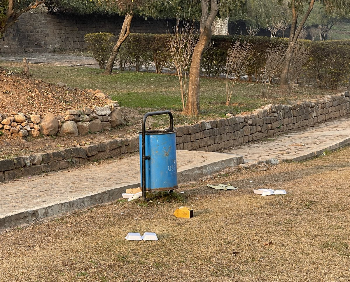 This is a very clean & pretty park on Ataturk Ave in Islamabad.People from a seemingly well off family came here for a picnic & brought food along but couldn't be bothered to put the trash inside the trash can just 2 ft away & left after littering the park. Don't know what to say
