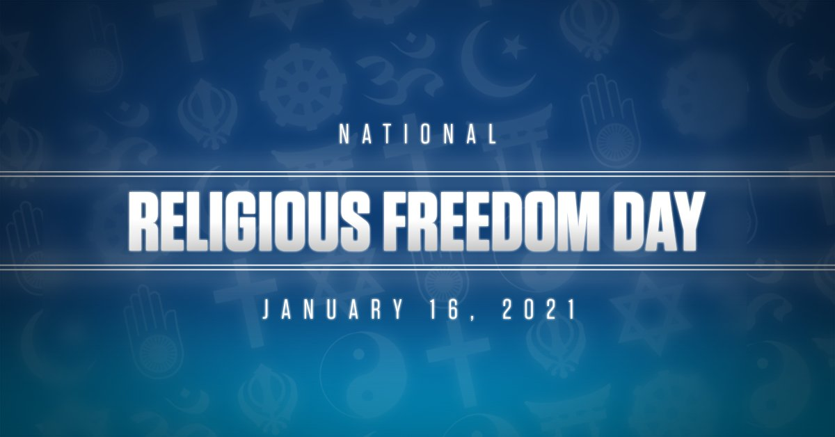 As Americans, we are blessed to have religious FREEDOM as one of our most fundamental, defining, & important liberties. 🇺🇸🇺🇸🇺🇸 https://t.co/YZfbcfonQm