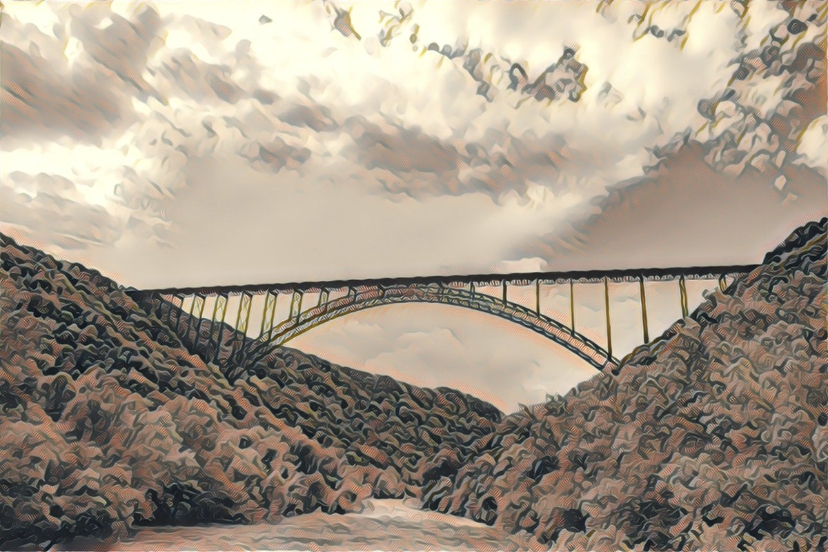 Wide Bridge Prisma Remix  #WideBridge #LongBridge #BigBridge #SummerDay #LateSummer #Outside #ForgottenLocation #UnknownLocation #WalkAbout #Photography #Colorful #Prisma #PrismaEdit #PrismaRemix #PrismaAI #AI