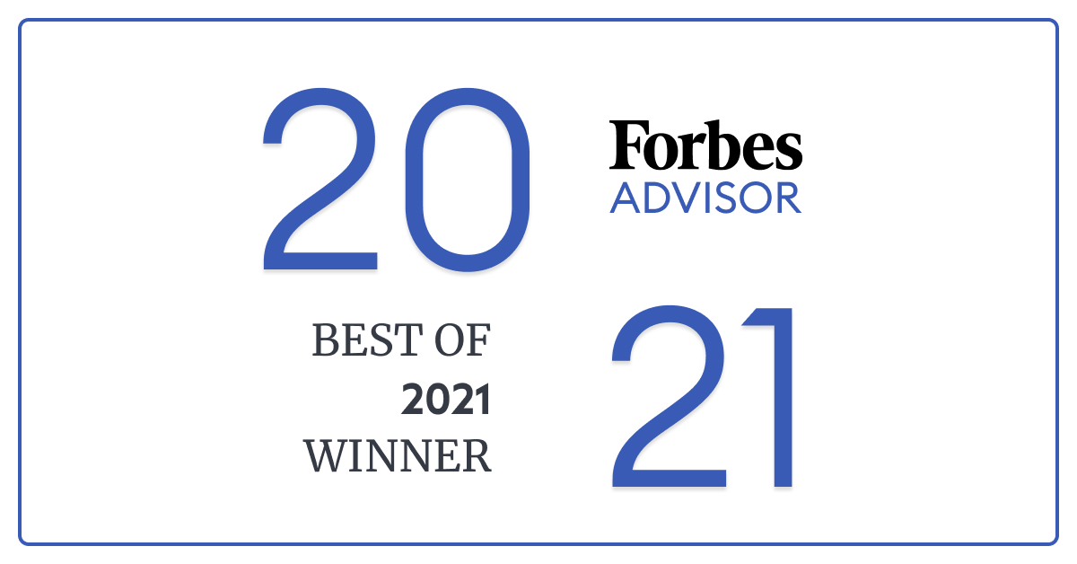 """Proud to announce that @ForbesAdvisor just named us """"Best Overall for Online Banking"""" in their annual #BestOf2021 awards! Also won awards for our checking, savings, and money market accounts."""