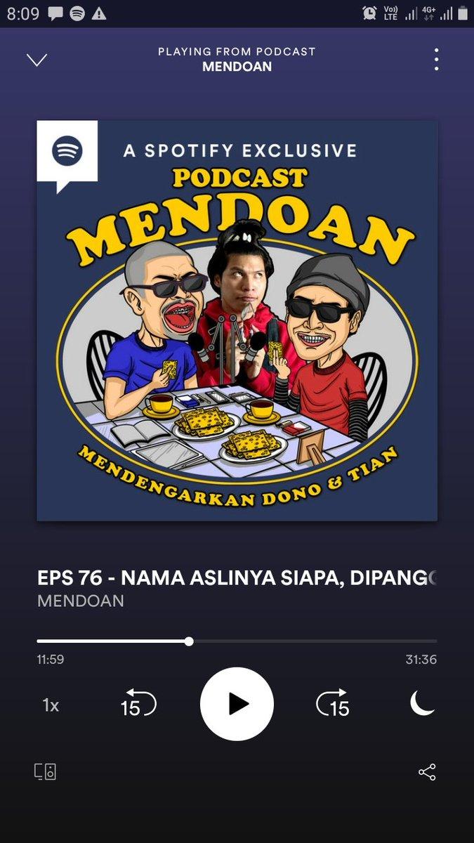 #malamminggu ngerunggokno podcast e @donopradana ndek kamar.