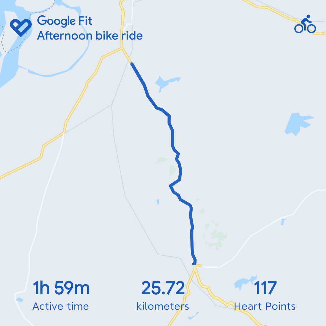 After a break, I started cycling again today. #cycling #googlefit