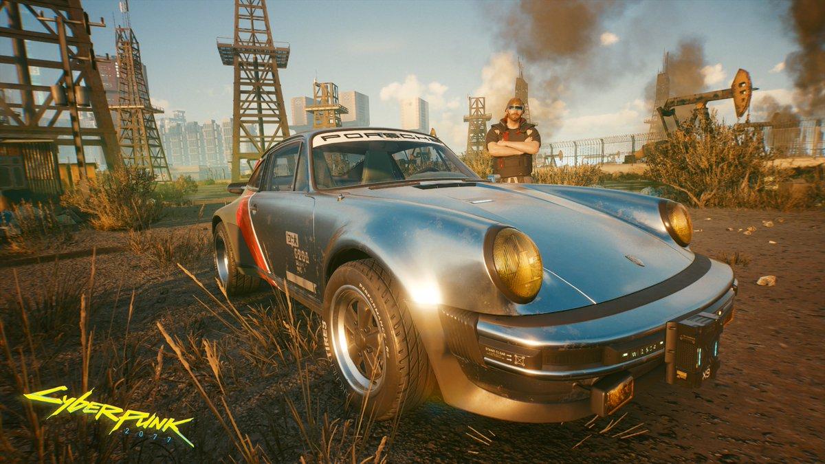 It's mine now, Johnny! #PS4share #Cyberpunk2077 #CDProjektRED #Porsche
