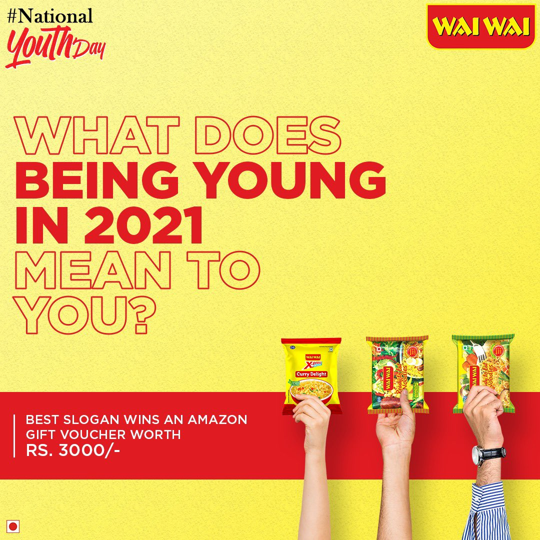 @waiwaiindia @Nitish_nix BEING YOUNG IN 2021 MEAN TO STAY SAFE AND HEALTHY.   USE RIGHT QUALITY PRODUCT OF SNACKS.  KEEP CARE OF TASTE BUT HEALTH FIRST. ALWAYS FIGHT FOR RIGHT #waiwai #noodles #nationalyouthday @Nitish_nix  #youthday #food #celebration @waiwaiindia @Chhbi777 @PareshR7684 @Meenakshi0004