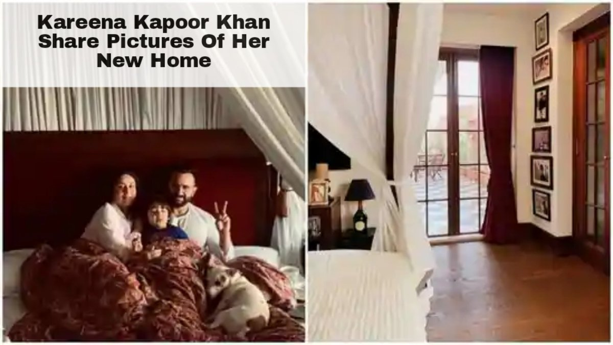 Actor @Queenkhanlovers  gives a glimpse of her magnificent new house right next door to her old home but quite larger. Kareena Kapoof shared a picture on #Instagram that showed one edge of her canopy bed with the dark hardwood floor. #KareenaKapoorKhan #KarishmaKapoor