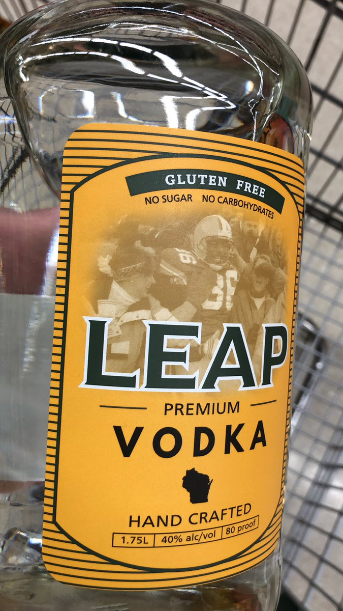 @leap36 gameday ready with some HOF vodka #gopackgo