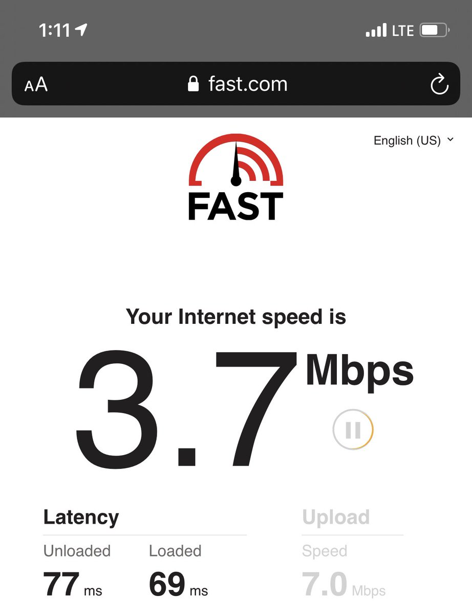Then you move across the street and only have #4G speeds.  It's kinda crazy the speeds are this difference between two places I could throw a #football at.  It's really disappointing that this the best that @Verizon can squeeze out of the #iPhone12Pro, whatcha got @ATT?
