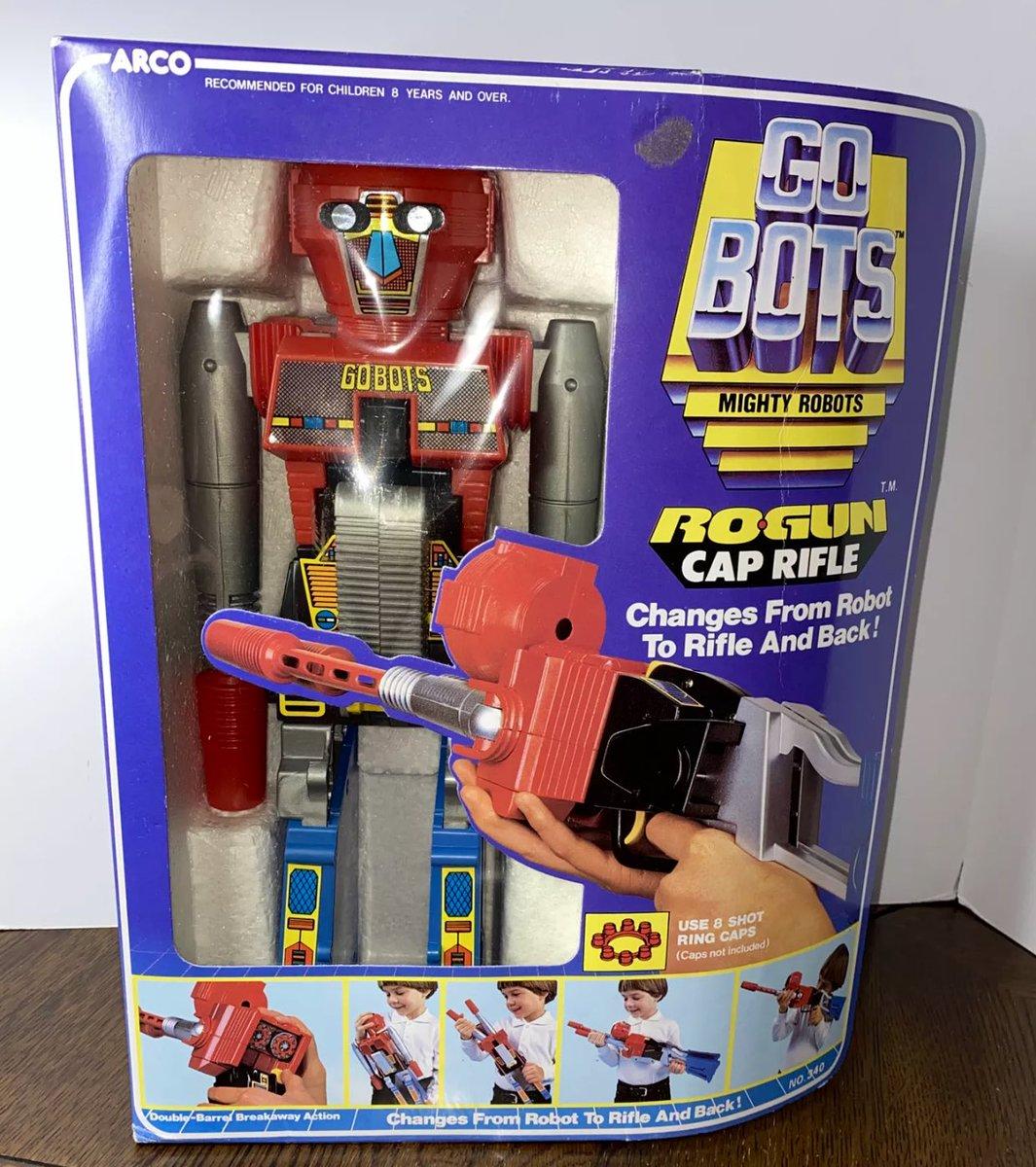 #GOBOTS #ROGUN #Robot #Gun Cap #Rifle #Arco #1984 #Mighty #Robots #Transforming #Toy NRFP