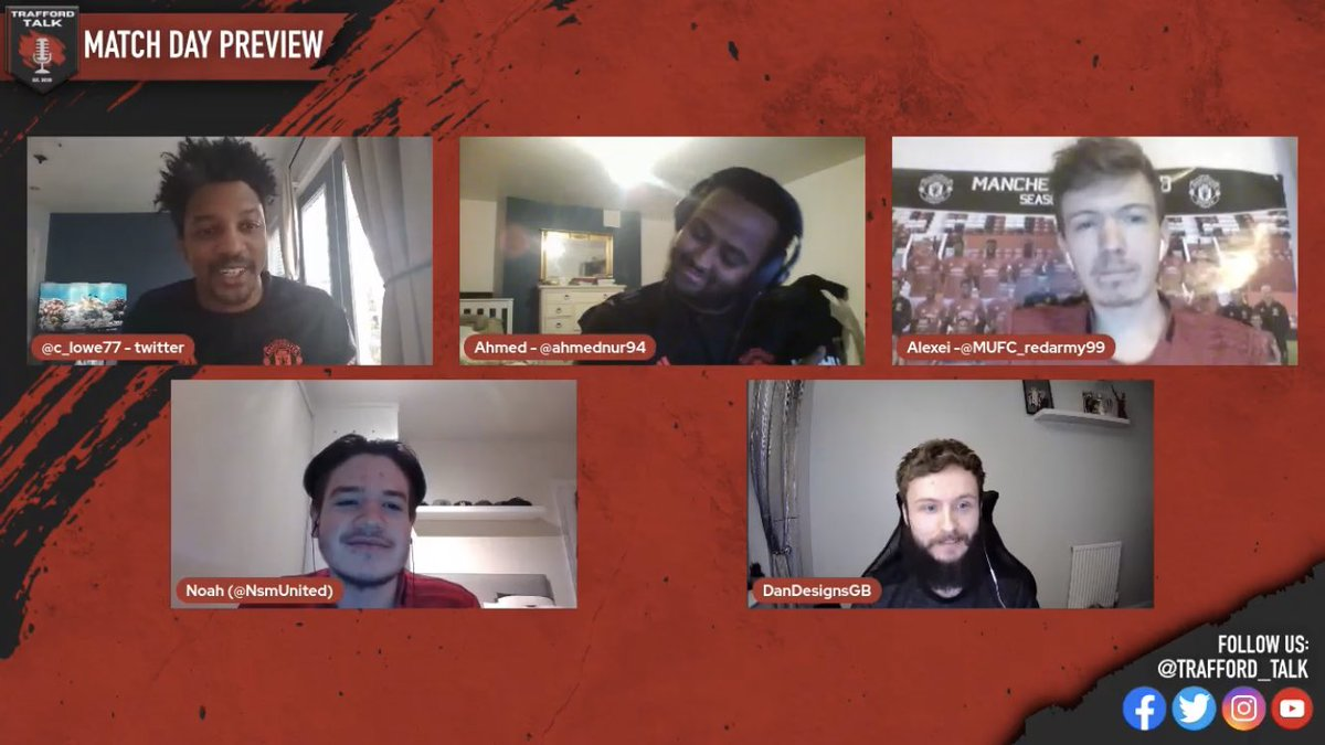 NEW PODCAST: @Trafford_Talk  Join me, @C_Lowe77, @ahmednur94, @dandesignsgb and @MUFC_redarmy99 for our Match Day Preview - Manchester United vs Liverpool: We talk possible lineups, key battles on the park, score predictions and more! 🔴  #LIVMUN #Mufc   https://t.co/si8KgGLaew https://t.co/MuKoeKFTIa