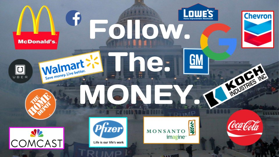 January 6th's deadly #InsurrectionDay and #AttemptedCoup was brought to you by America's richest people & the most powerful, well known multinational corporations on the planet. America is now Guatemala. #FollowTheMoney. THREAD coming soon