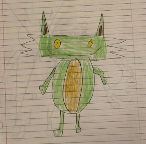 @RedCabinComics @CynnaAel @beckyjewell This feline I made up in 2nd grade will come to the page. #Caturday