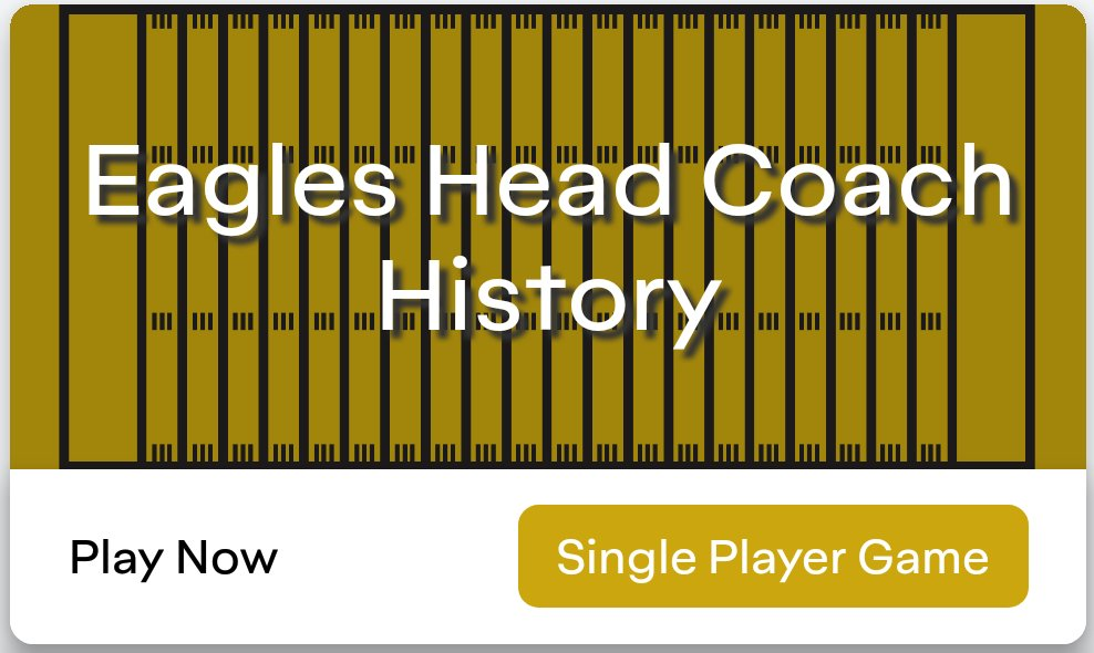 Reflect on Eagles coaches past with @CuzzoTrivia while we agonize over this team's future. Available on the Apple App Store and Google Play   #flyeaglesfly