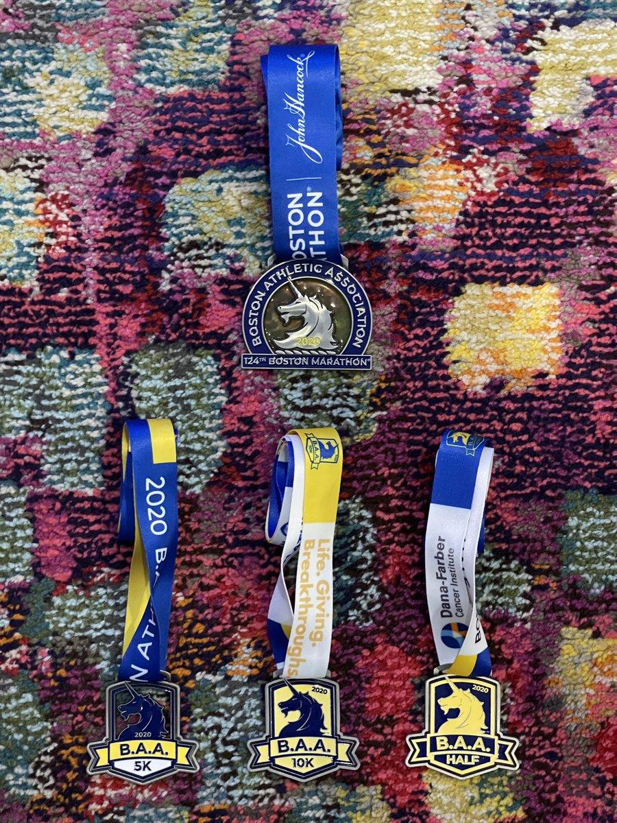 Thank you @BAA. #FINISHStrong @bostonmarathon Wish I ran all of them in-person.