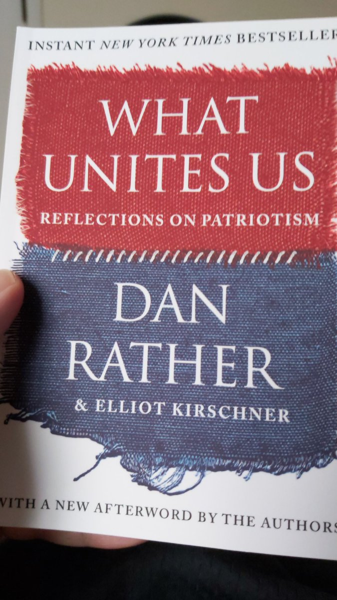 What a pleasure it was to read this @DanRather.  Thank you for your perspective.  It really gives hope to what America can strive to be. #WhatUnitesUs