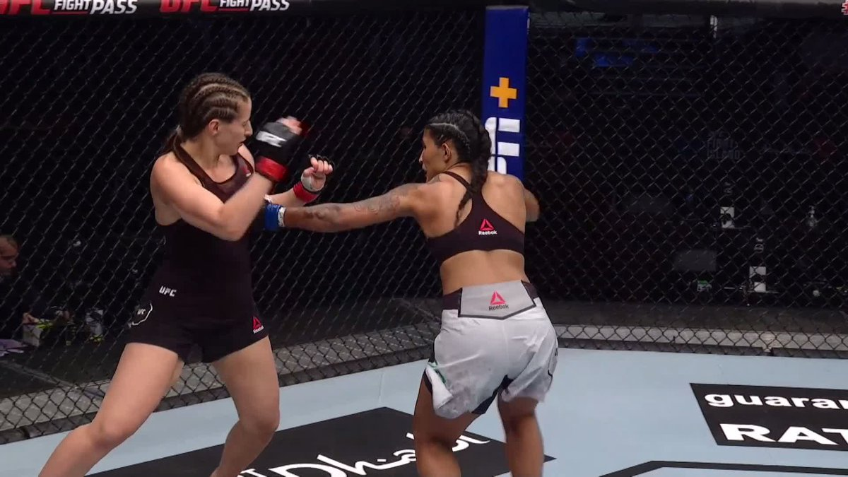 Official decision: Vanessa Melo (11-8) defeats Sarah Moras (6-8) via UD #UFC #UFCFightIsland7