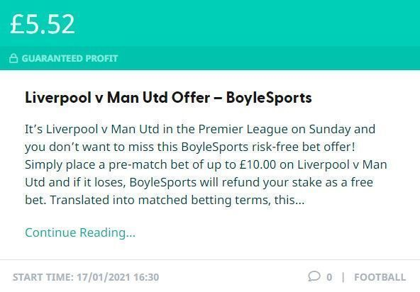 Make £5.52 PROFIT on Sunday with this BoyleSports offer on Liverpool v Man Utd! #LIVMUN  SEE HOW: