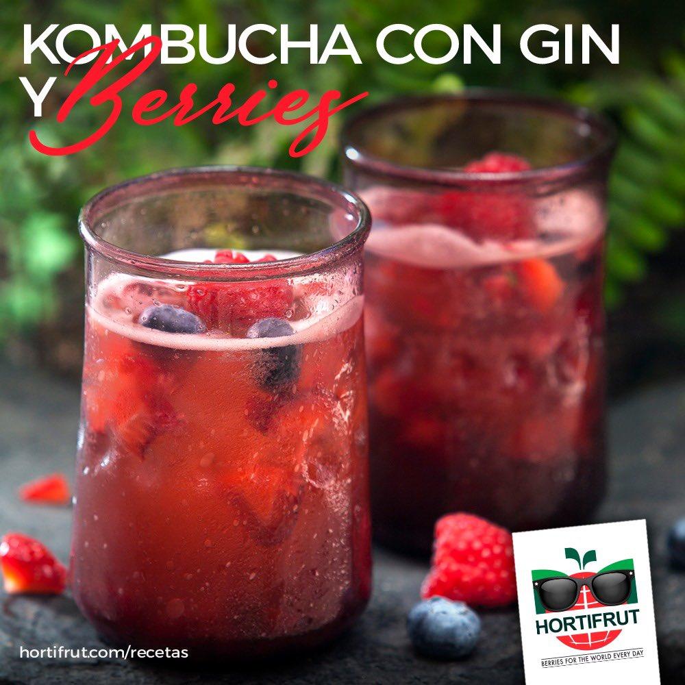 #Verano2021 😎🏝🍒☀️ Prueba exquisitas preparaciones 🍹🥤como este #kombucha con #gin y #berries 🍓 #HORTIFRUT https://t.co/omX0eW6NMU