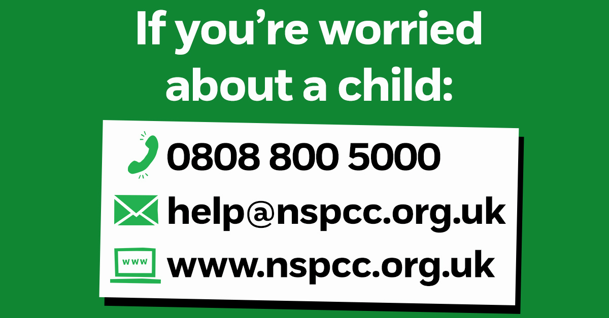 If you're worried about a child, our helpline is here, on the phone and online: