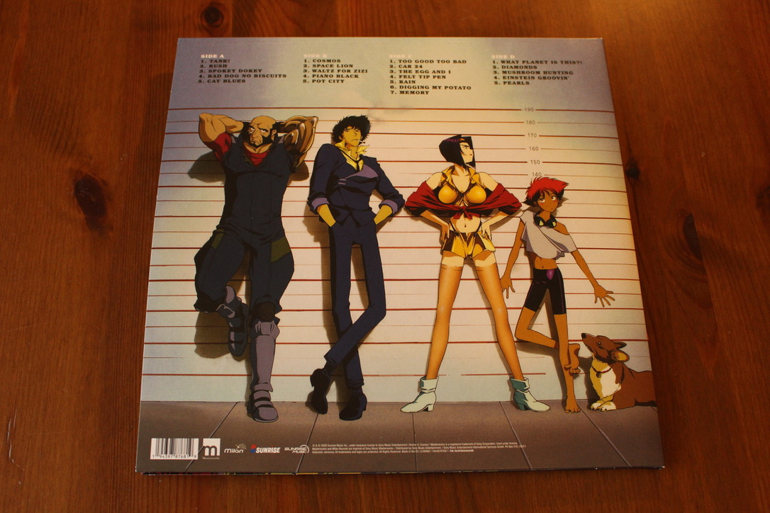 Pixlriffs - My wife got me this incredible 2xLP Cowboy Bebop soundtrack reissue for Christmas. Art splashed across every inch of it, beautiful marbled vinyl, and some of the best music in any series ever - whether animated or live action. So so so good