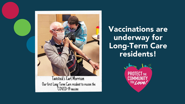 I want to thank all of the amazing @SW_PublicHealth and @OxfordParamedic teams for protecting our local Long-Term Care residents with the #COVIDvaccine. Got questions about #COVID19 vaccines? Visit covid-19.ontario.ca/covid-19-vacci….