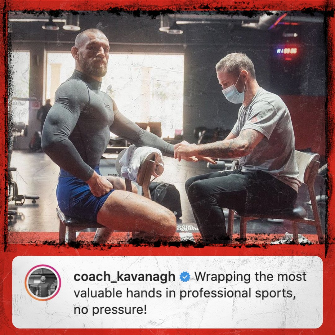 A focused @TheNotoriousMMA is a dangerous Conor McGregor... 👀  Just 7 days to go and The Notorious looking in peak condition ahead of #UFC257  We like that caption too Coach 🙃  (📸 x @John_Kavanagh)