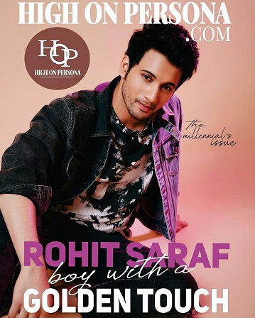#RohitSaraf Shines On The #CoverPage Of '#HighOnPersona' Magazine's Millennial #Issue