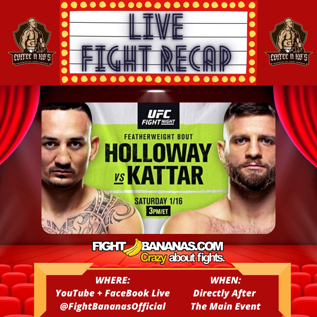 LIVE RECAP TONIGHT!  Follow and subscribe to @FightBananas on Facebook, YouTube, Instagram and check us out after the main event tonight!  #UFC #UFCFightIsland7 #UFC257 #MMA