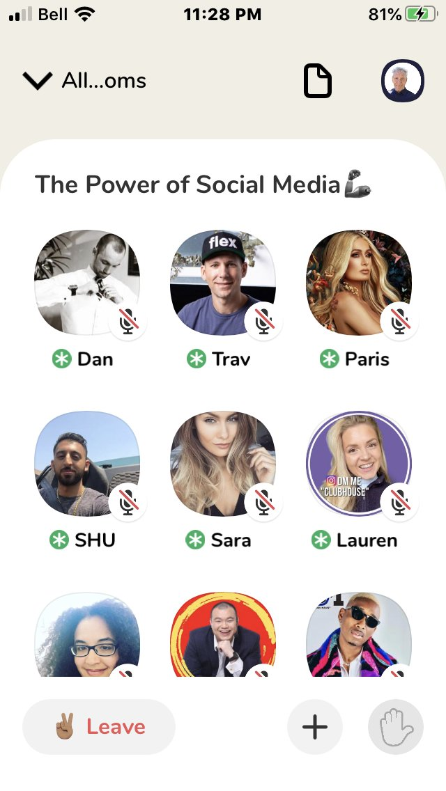 """Are you on #Clubhouse app yet? It's a gathering of many people in """"rooms"""" to talk about particular topics. Last night @ParisHilton was in the Social Media room, and answered audio questions for an hour.  She thinks Clubhouse  will be bigger than TikTok and Facebook as a platform."""