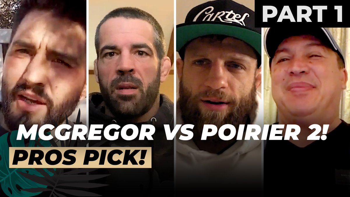 Pros pick McGregor vs Poirier (Part 1) | Condit, Brown, Kattar & Javier Mendez!    #ufc257 #fightisland #ufc