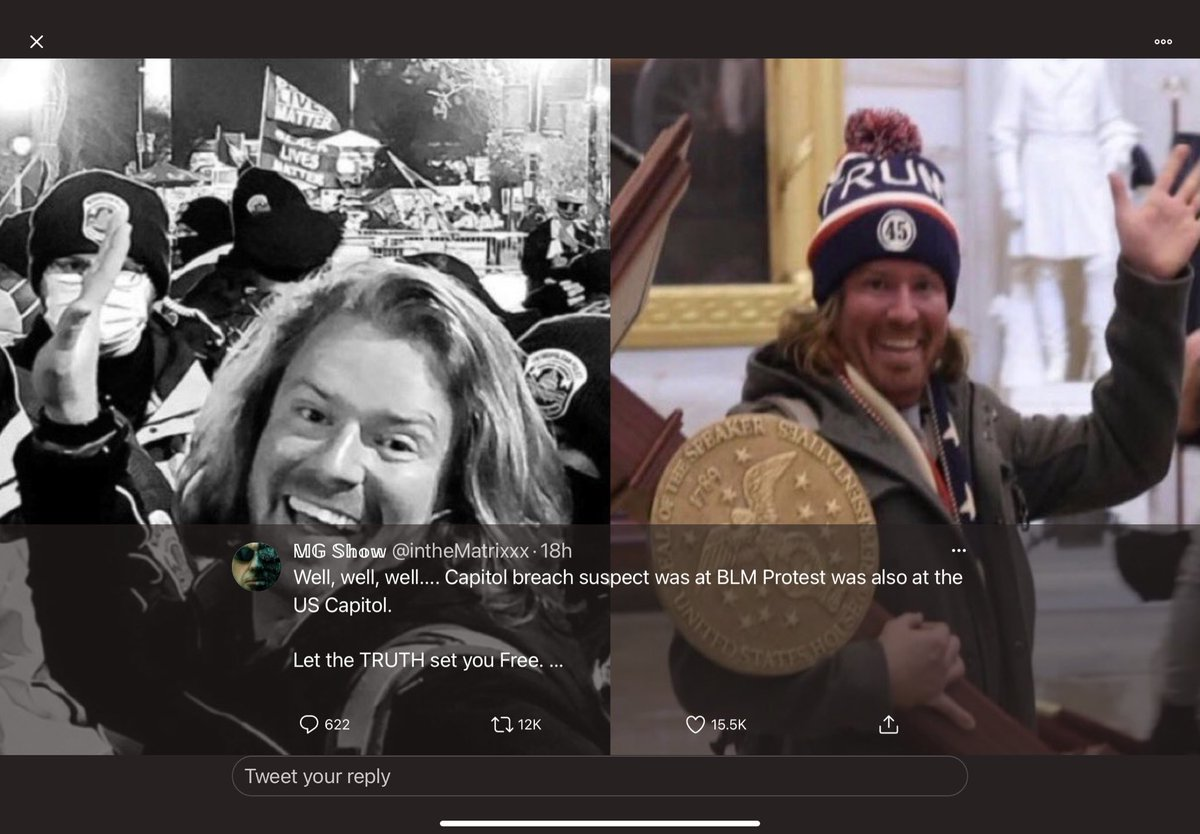 @carllamy Ooops Someone's unaware that the storming of the capital was done by Atifa posing as a Trump supporters. @CNN is trying to hide it because one of their employees HELPED these idiots storm the capital. #BetweenBreakingNewsStories  #GoPackGo  #SaturdayVibes  #SaturdayMorning