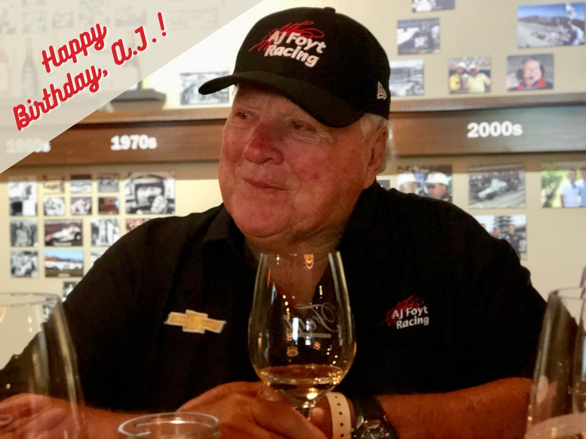 Cheers to you, Boss! Join us in wishing A.J. a very Happy 86th Birthday!   #SuperTex | #INDYCAR
