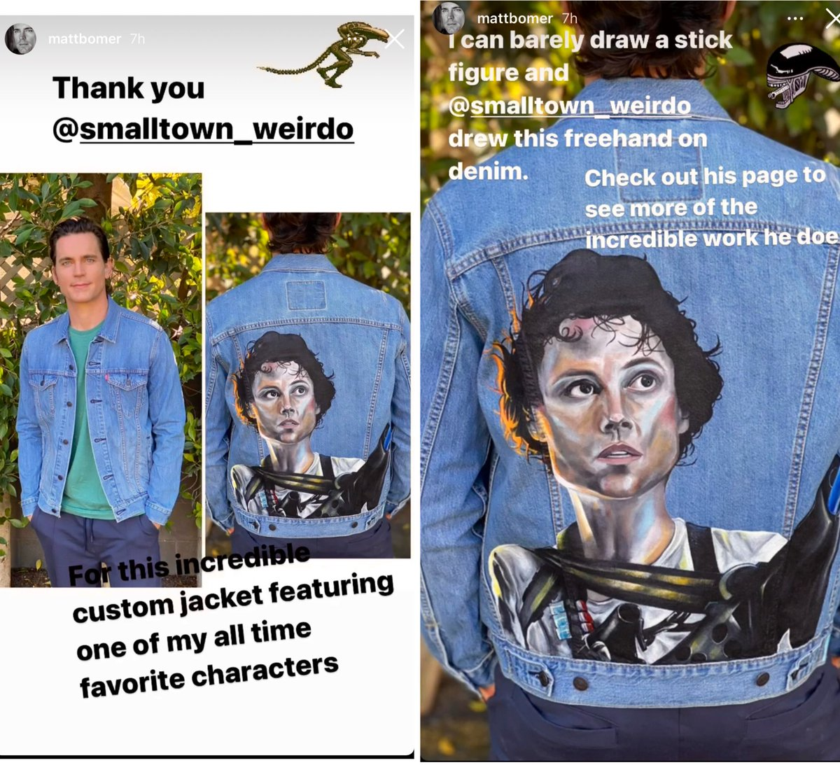 #mattbomer #StyleIcon Love the funky Jacket, just can't believe he can't draw. I think he is made of magic fairy dust & is the most nice and supremely talented person alive #saturdayvibes Just wanted to say there will be no tagging anymore unless it's really imp important