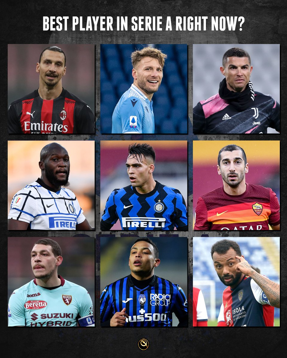 🇮🇹 Who's the best Serie A player right now: Zlatan, Immobile, Cristiano Ronaldo, Lukaku, Lautaro Martínez, Mkhitaryan, Belotti, Luis Muriel or João Pedro?