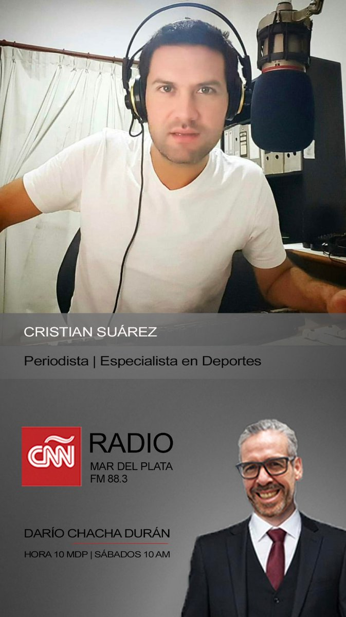 #AHORA charlamos con 𝗖𝗿𝗶𝘀𝘁𝗶𝗮𝗻 𝗦𝘂𝗮𝗿𝗲𝘇 en #HORA10 Mar del Plata por #CNNRadioArgentina | Online: https://t.co/5hSB2Dp7CU | @cnnhora10mdp | @chachaduran |