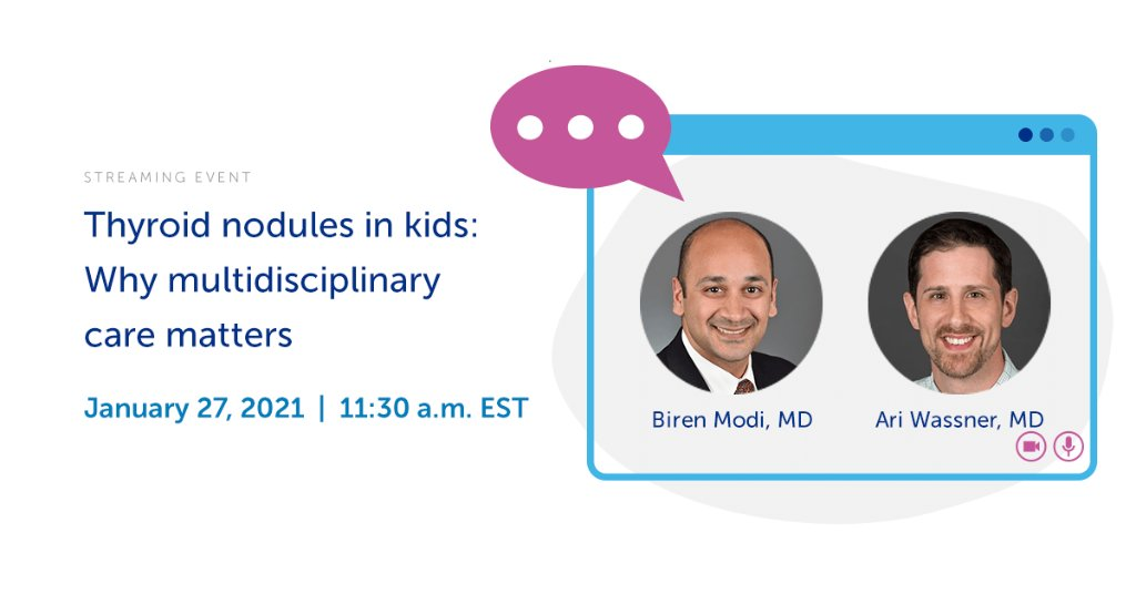 Concerned about your child's #thyroid health? Our Thyroid Center has answers! Don't miss our free live streaming event on January 27th. Register here: