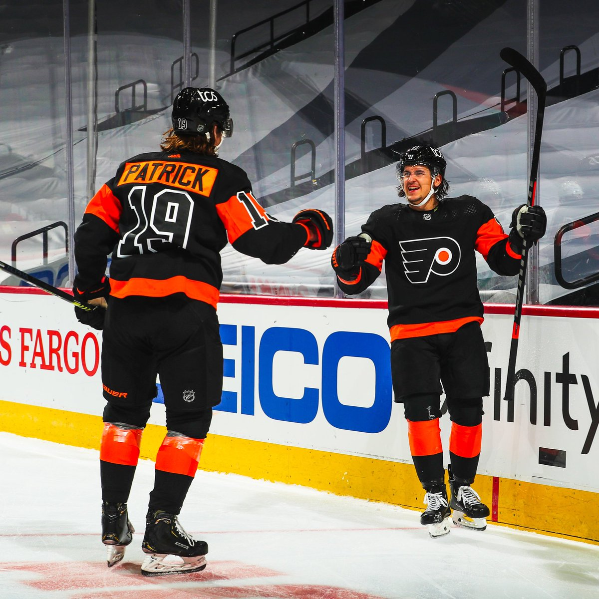 Replying to @NHLFlyers: To everyone always asking for TK and Patty content...  You're welcome. #AnytimeAnywhere