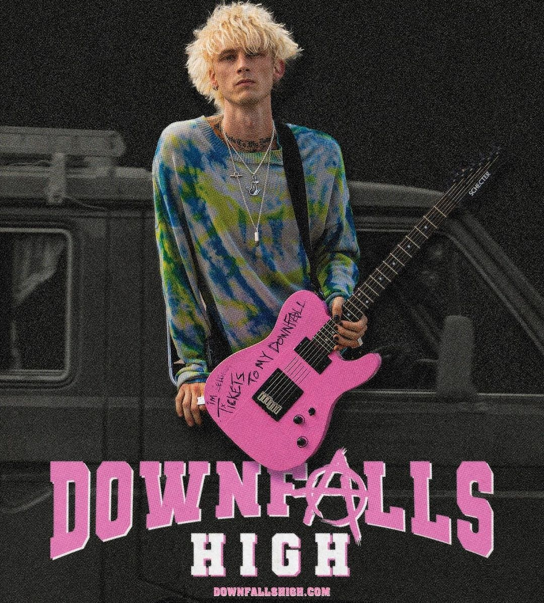 .@MachineGunKelly's one-of-a-kind musical #DownfallsHigh is out now! Available to watch on Youtube or through the link in our bio 💥  https://t.co/a0dcneIhJk  #MachineGunKelly https://t.co/YzJP97D2ud