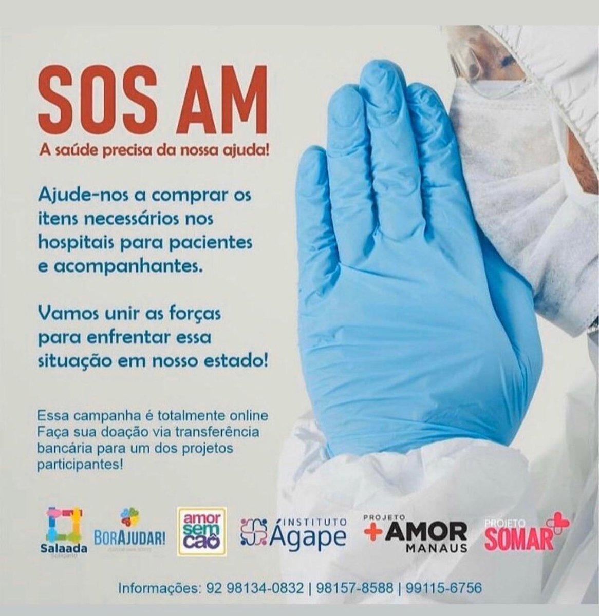 O chamado pulmão do mundo está sem oxigênio, o momento é de solidariedade e mobilização. Conheça e contribua com os projetos em prol da melhoria de condições da saúde do Amazonas.  #OxigênioParaManaus #SOSManaus #SOSAM