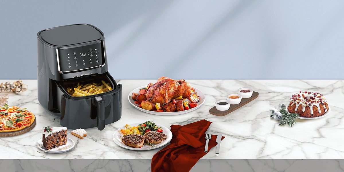 Make cooking a breeze! Save time in the kitchen with TaoTronics Large 6 Quart 1750W Air Fryer. 😆 Get yours here 👇 https://t.co/k2FYvpfEf5 https://t.co/TskAsI6xyw