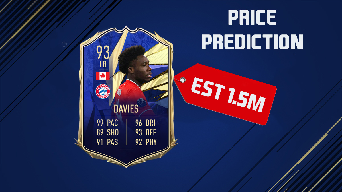 Do you think @AlphonsoDavies will be in toty?  This is our price prediction for him #FIFA21 #TOTY #FIFA #Bayern #BayernMunich #davies #football