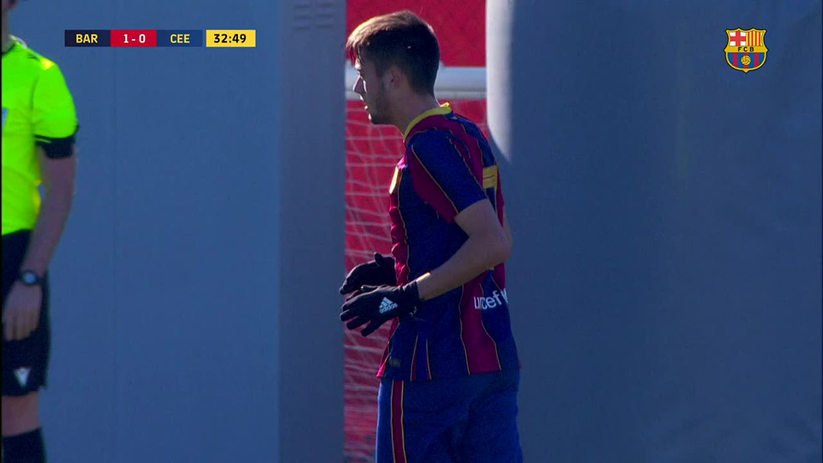 💥😱 What a gooaal Jaume Jardí  🔥 ¡Gol olímpico de Jaume Jardí!   💪 Gol olímpic de Jaume Jardí!   💙❤️ MADE IN LA MASIA ❤️💙  #ForçaBarça 💙❤️