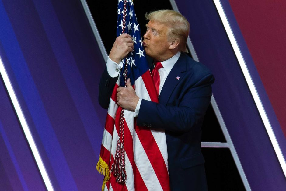 The GOP needs sit on Trump so that he can not do any more damage to the country whose flag that he hugs purely for optics. - #TrumpLies #TrumpTraitor #TrumpCrimeFamily #IMPOTUSX2 #IMPOTUS45  #TrumpLiesAmericansDie #TrumpForPrison #Insurrection #TrumpSedition #TrumpCorruption