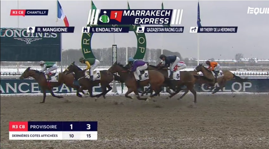 Riding double for Rosario Mangione @RosarioMangion2 at Chantilly @fgchantilly 🏇🥇🥇🇫🇷 Marrakech Express wins the Prix De La Fontaine Teauvillaise! #winners #double #Chantilly #France #HorseRacing
