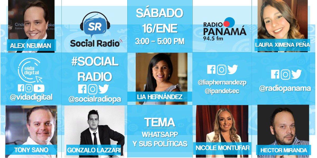 Hoy todas y todos conectados con @radiopanama a las 3 pm. Nuestra Directora Ejecutiva @liaphernandezp estará participando en la mesa de radio hablando sobre las políticas de privacidad de @WhatsApp.  No se lo pierdan por 94.5 fm.