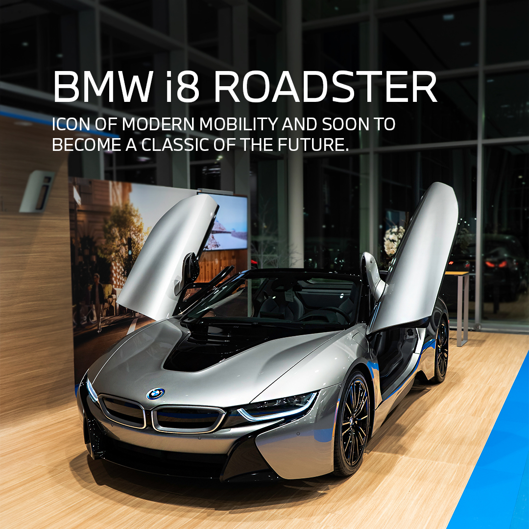 Own an automotive icon that is soon to become a classic of the future: the #BMWi8 Roadster is available at #PolicaroBMW. Book your appointment: